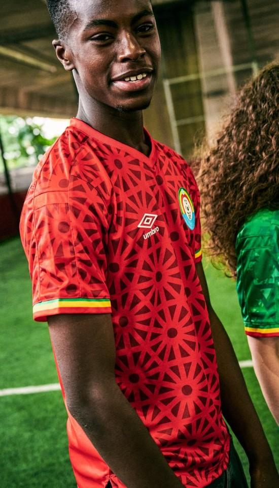 Red Ethiopia Third Jersey 2021 2022 Umbro