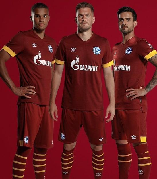 Red Schalke Third Jersey 2021 2022