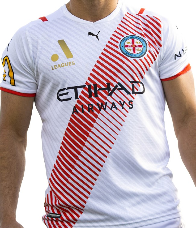 Red White Melbourne City Third Jersey 2021 2022