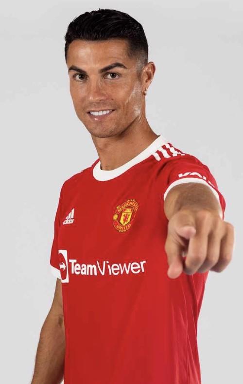 Ronaldo in United Home Shirt 2021