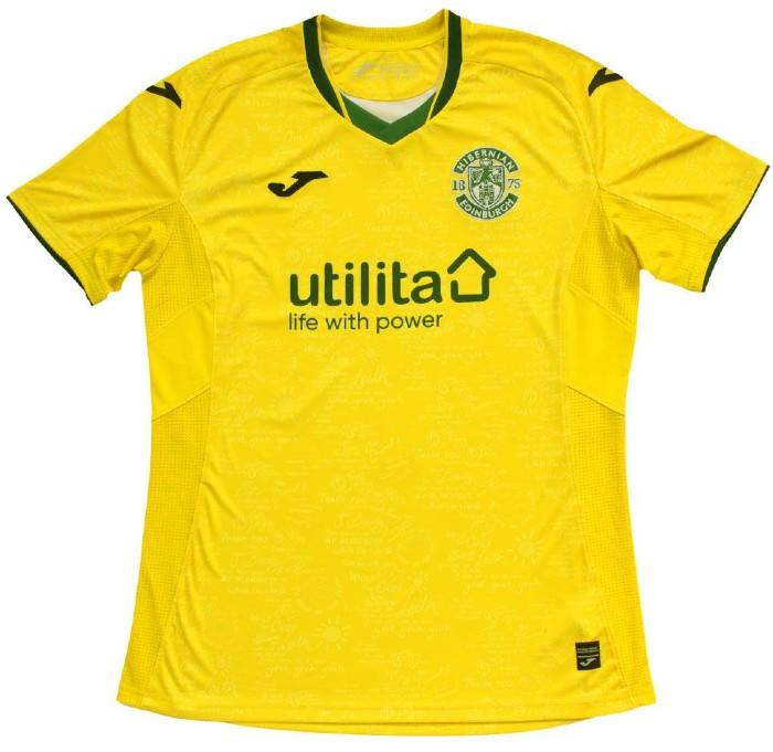 Yellow Hibs Kit 2021-22