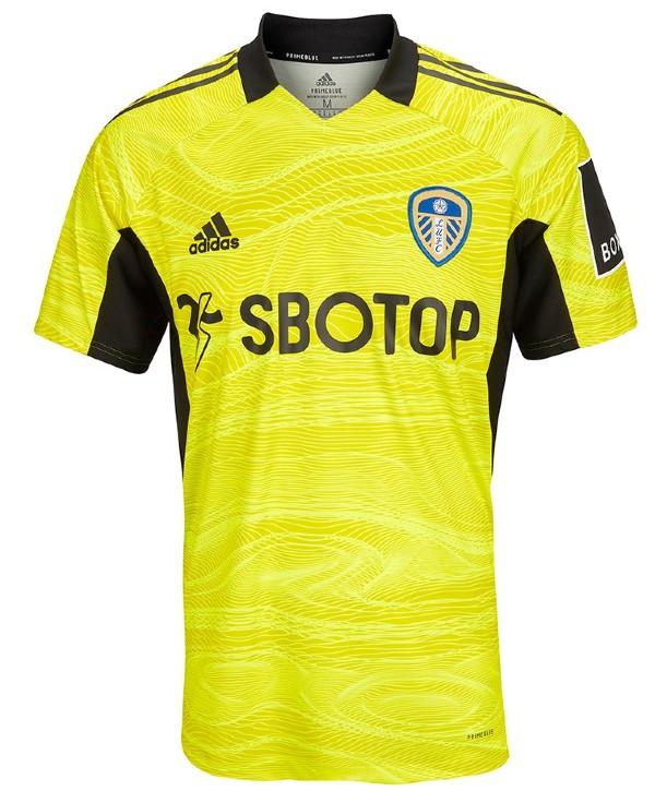Yellow Leeds Goalkeeper Shirt Third 2021-22