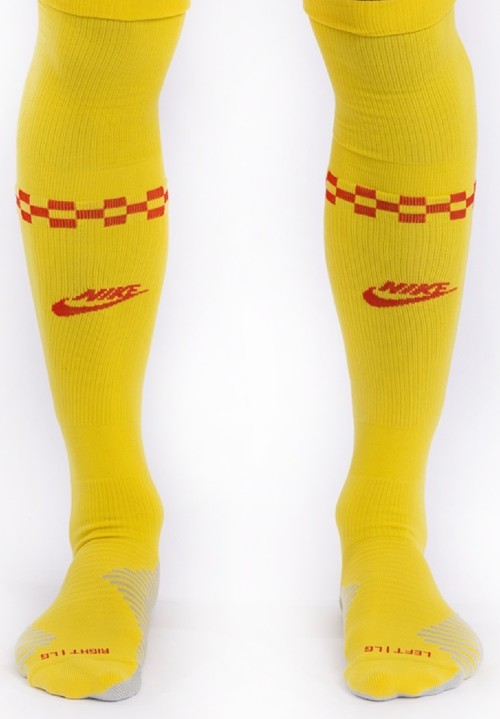 Yellow Liverpool Third Kit Socks 2021 22