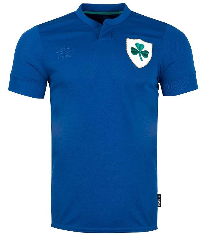 Blue Ireland Soccer Jersey 2021 Centenary Kit