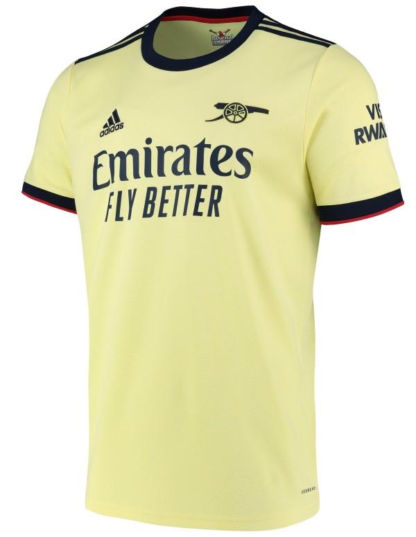 Yellow Arsenal Away Jersey 2021 2022